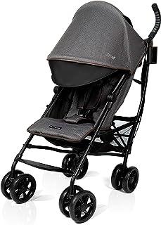 Summer 3Dlite+ Convenience Stroller, Charcoal Herringbone – Lightweight Umbrella Stroller with Oversized Canopy, Extra-Lar...