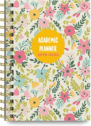 Pastel Floral 2019-2020 Academic Monthly and Weekly Planner, 8.25 x 6.25 inches