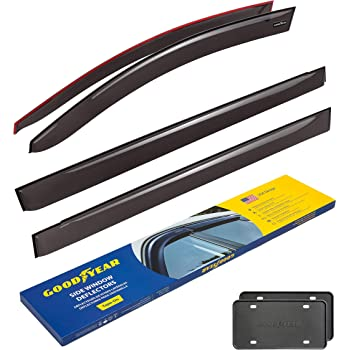 Goodyear Side Window Deflectors for Toyota Sienna 2011-2020, Tape-on Rain Guards, Window Visors for Cars, Vent Deflector, Vent Visor, Car Accessories, 4 pcs- GY003153LP