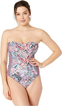 Swirling Around Bandeau One-Piece