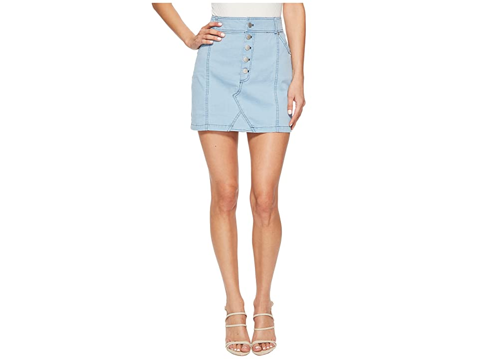 Jack by BB Dakota Kesha Mini Skirt (Washed Out Chambray) Women