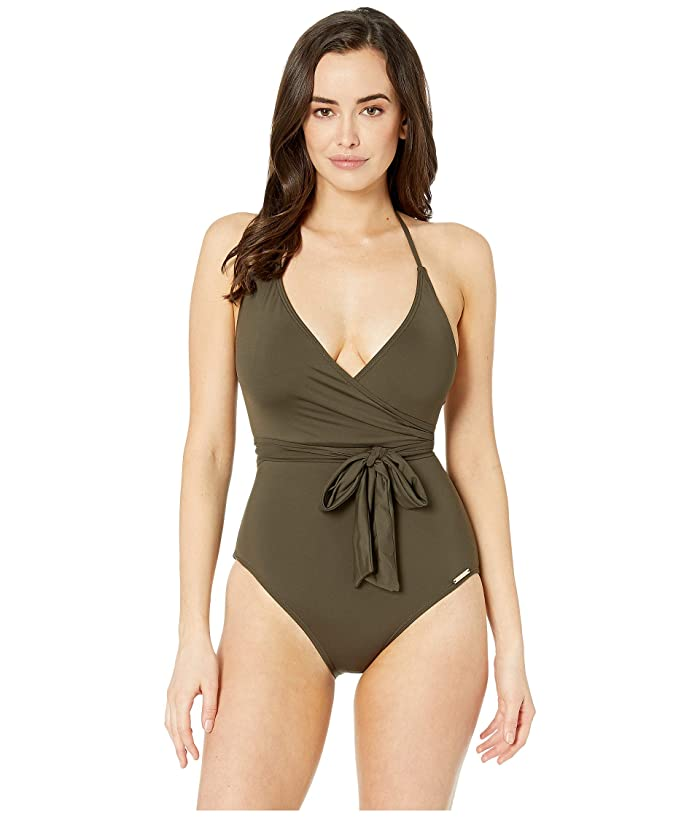 Vince Camuto Surf Shades V-Neck Wrap Tie One-Piece (Bonsai) Women