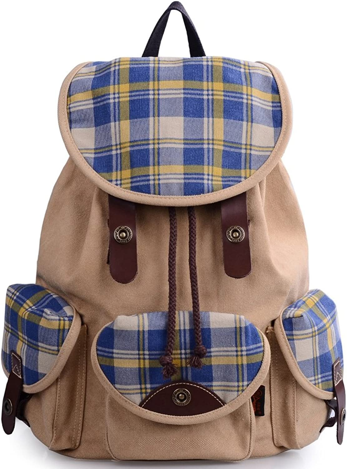 Colnsky Unisexadult Korean Fashion Casual Canvas Backpack for College G00125 New Style