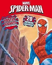 Spiderman. Póster Gigante Y Superactividades + Tatuajes de Marvel ...