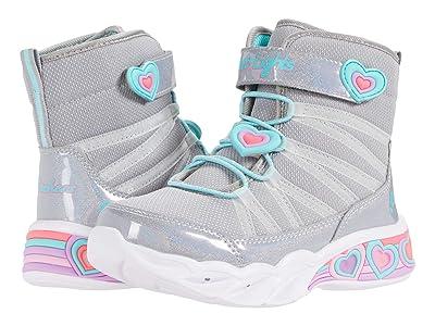 SKECHERS KIDS Sweetheart Lights 302661L (Little Kid/Big Kid) (Gray/Aqua) Girls Shoes