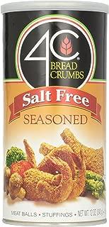 4C Bread Crumbs, Seasoned Salt Free, 12 oz