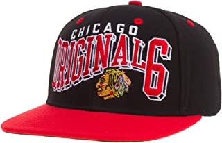 Chicago Blackhawks Black/Red Original 6 Sanpback Hat
