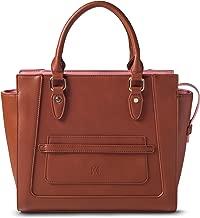 Marsi Bond Designer Womens Handbag - Classic Top Handle Vegan Leather Tote Purse