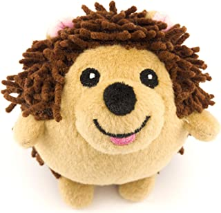 Dizzy Hedgehog Dog Toy with Rubber Squeaky Ball Inside and No Stuffing