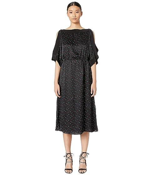 GREY Jason Wu Satin Cold Shoulder Dress