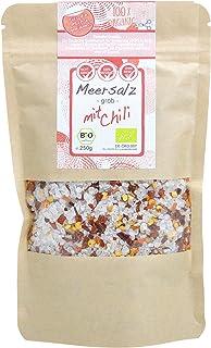 direct&friendly Chili Salz grobes Meersalz mit Bio Chili im Nachfüllpack ideal für die Salzmühle 250 g