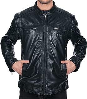 Best slim fit black leather jacket Reviews
