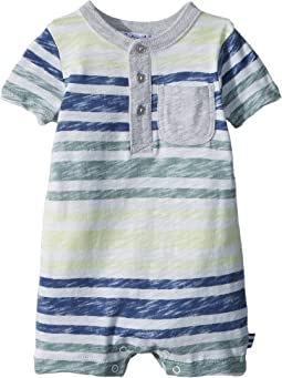 Reverse Stripe Print One-Piece (Infant)