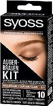 SYOSS Augenbrauen-Kit permanente Augenbrauenfarbe 5-1 Hellbraun, natürlicher Look, 1er..