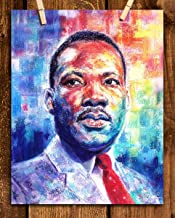 Martin Luther King Jr- Abstract Watercolor Portrait Print- 8 x 10