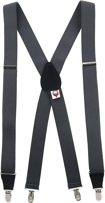 Ascentix Men's Dressy Solid Color Clip-End Suspenders