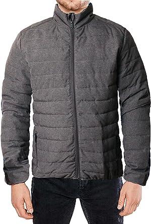 Mens Threadbare Jacket Coat Padded Bubble Puffer Quilted Winter Designer Nelson