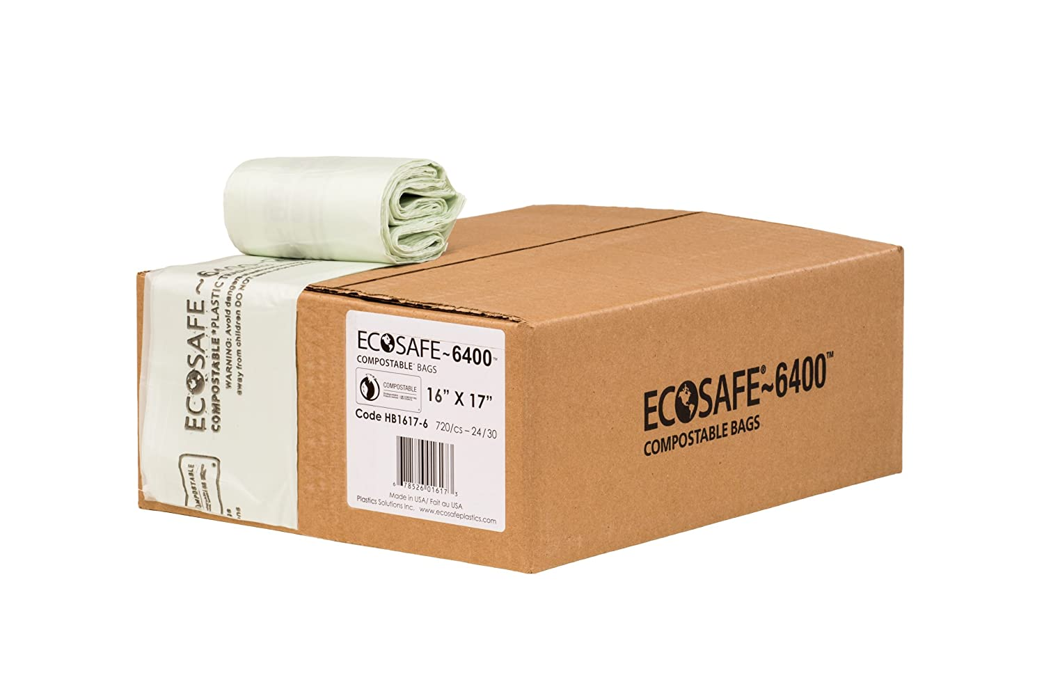 EcoSafe-6400 HB1617-6 Compostable Certified Fixed price for sale Phoenix Mall Bag 2.