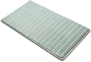 Microdry 10810 Memory Foam Softlux Skid-Resistant Bath Mat, 21 x 34 in, Seaglass