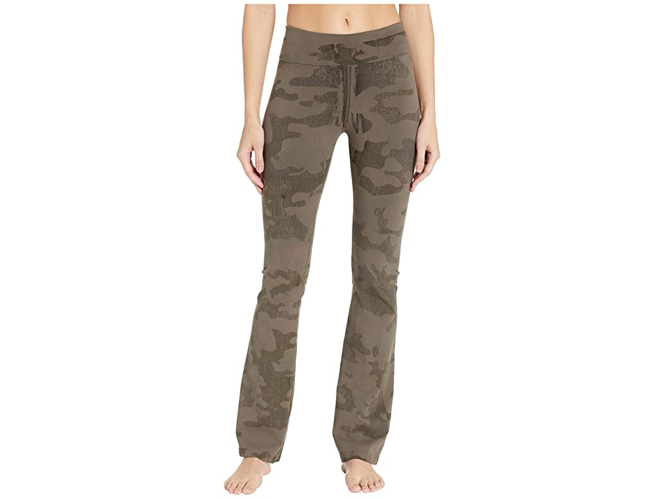 Hard Tail Rolldown Bootleg Flare Pants (Gravel Camo) Women