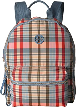 Tilda Plaid Zip Backpack