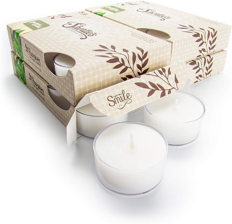 Long-awaited Ranking TOP6 Eucalyptus Spearmint Tealight Candles Bulk Pack Highly White 24
