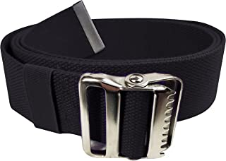 """LiftAid Walking Gait Belt and Patient Transfer with Metal Buckle and Belt Loop Holder for Nurse, Caregiver, Physical Therapist (Black, 60"""")"""