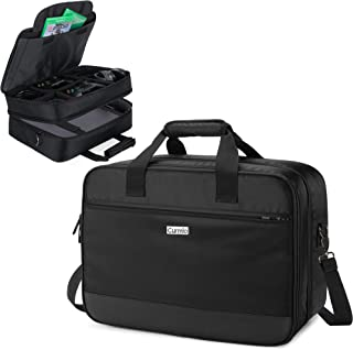 CURMIO Travel Carrying Case Compatible with Xbox One/ Xbox One X/ Xbox 360/ Xbox Series S, Portable Storage Bag Organizer ...