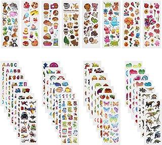 Annhao Autocollants pour Enfants, 1000+ Autocollants 3D pour Fille Garcon, 40 Feuilles Autocollants de Variétés pour Récom...