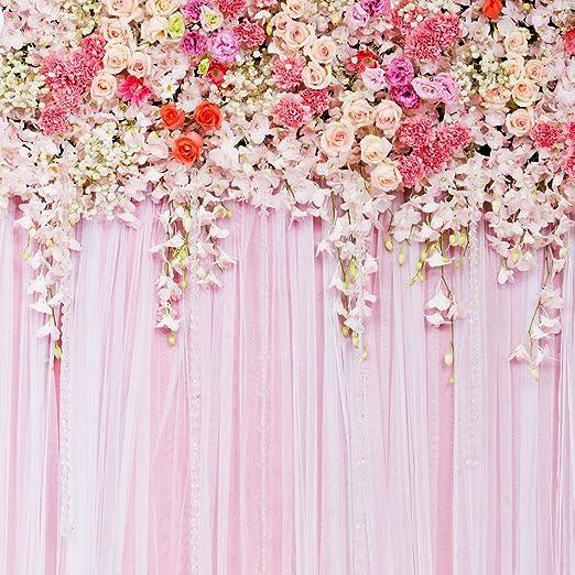 10x15ft Pink Birthday Photography Backdrop Baby Shower Studio Photo Shooting Props YHFU005