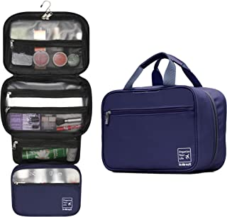 Lavievert Hanging Toiletry Bag Makeup Organizer Cosmetic Bag Waterproof Travel Accessories Dopp Kit For Women And Men - Blue
