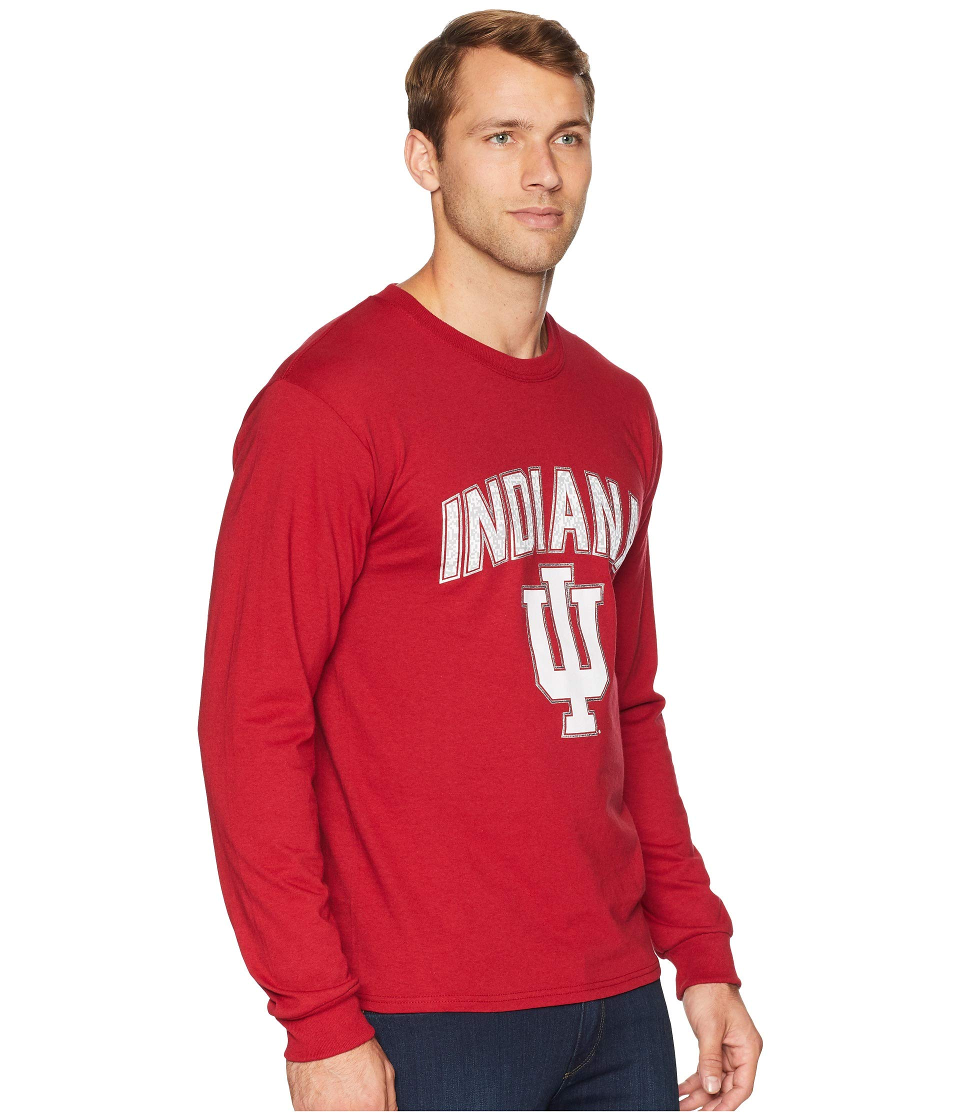 Long College Cardinal Indiana Sleeve Jersey Hoosiers Champion Tee 0taxwt
