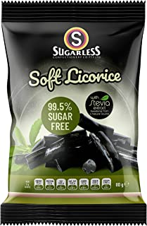 The Sugarless Company A Soft Licorice Pieces with Stevia, 80 g