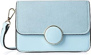 Miss Unique Leather Bag For Women - Flap Bag Blue, Le1237-3A