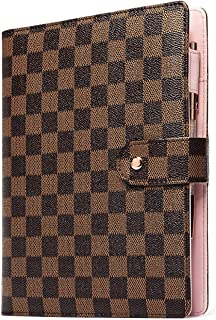 $38 » Checkered A6 Agenda Planner Journal Notepad Diary Organizer Binder Schedule Calendar A6 Brown