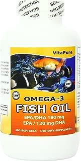 Vita Pure Omega - Fish Oil 400 Softgels, 1000 mg, 400 Count