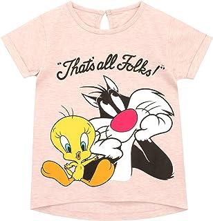 Looney Tunes Maglietta Maniche Corta per Ragazze Tweety Pie Daffy Duck Bugs Bunny