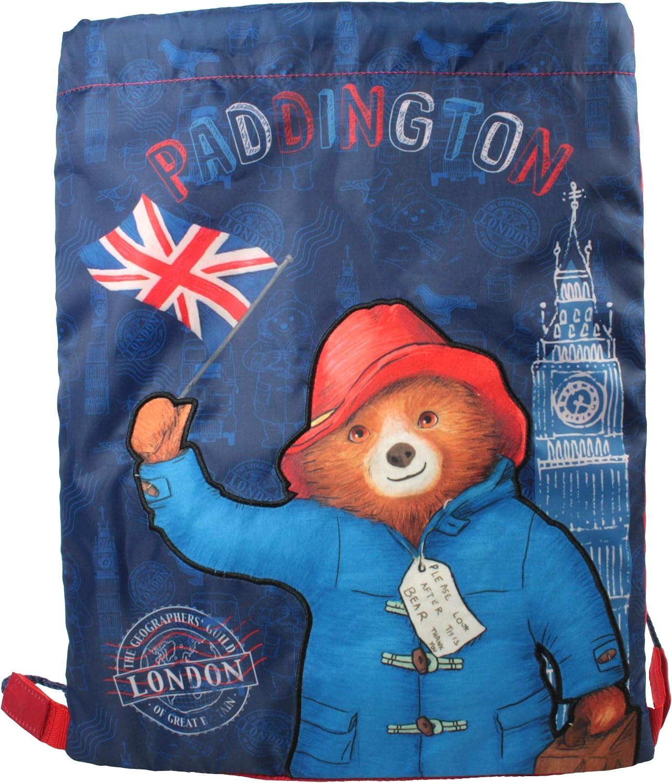 Paddington Austin Mall Bear London Drawstring Blue sold out Bag Sports Trainer