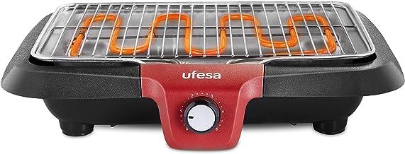 """Ufesa BB7640 - Barbacoa eléctrica con Sistema""""Baja Generación de Humo"""", Resistencia Térmica, Apagado Automático, Superficie 38x24cm, 2300W, (Apta Lavavajillas)"""