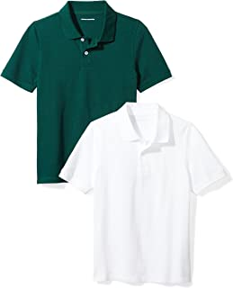 Boys' Short-Sleeve Uniform Pique Polo