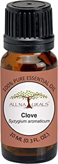 All Naturals Clove Essential Oil (India) 100% Pure Undiluted Therapeutic Grade - 10Ml