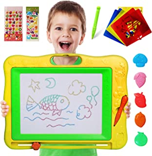 Gamenote Large Magnetic Drawing Board Education Doodle Toys for Kids, Colorful Erasable Magnet Writing Sketching Pad for T...