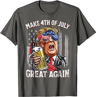 12b9f071 Make 4th of July Great Again T shirt Trump Men Women Beer