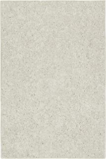 Ambiant Pet Friendly Solid Color Area Rug Off White -2'x3'