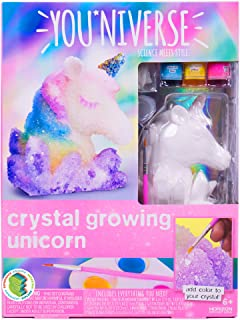 Youniverse Create Your Own 3D Crystal Growing Unicorn by Horizon Group USA, DIY Crystal Growing, Color Your Own Unicorn, Yellow, Pink, Blue