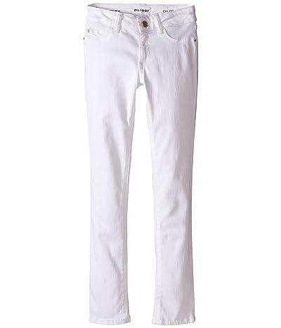 DL1961 Kids Chloe Skinny Jeans in Snow (Big Kids) (Snow) Girl