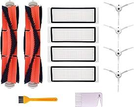 Accesorios para Xiaomi Mi Robot Vacuum Aspirador, Repuestos para Xiaomi Mijia Robot Roborock Vacuum Cleaner, 4 Cepillo Lateral, 2 Cepillo Principal, 4 Filtro HEPA