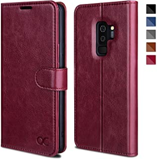 OCASE Samsung Galaxy S9 Plus Case, S9 Plus Wallet Case [TPU Shockproof Interior Protective Case] [Card Slot] [Kickstand] [Magnetic Closure] Leather Flip Case for Samsung Galaxy S9 Plus (Burgundy)