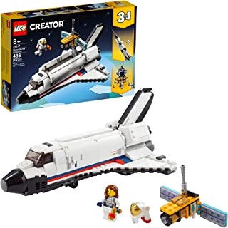 LEGO Creator 3in1 Space Shuttle Adventure 31117 Building Kit; Cool Toys for Kids Who Love Rockets and Creative Fun; New 20...