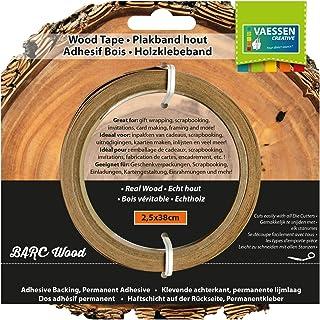 Vaessen creative 2921-904 Washi Tape en Bois de Bouleau 2,5 x 38cm, Marron Clair, 10 x 10 x 2,5